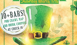 Promo graphic for Pacific Beach St. Patrick's Day Pub C...
