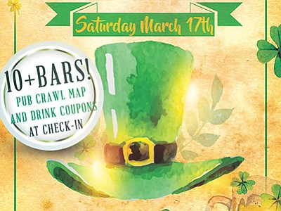 Promotional graphic for the Pacific Beach St. Patrick's D...
