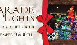Promotional poster for the Parade of Lights Dinner. Court...