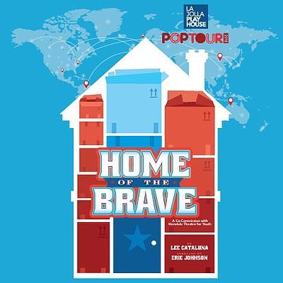"A promotional poster for ""Home of the Brave,"" courtesy of..."