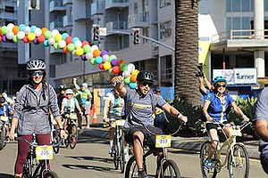 Promotional photo for the Padres Pedal the Cause event on Nov. 17, 2018
