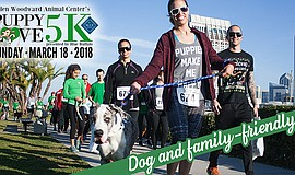 Promo graphic for Puppy Love 5K