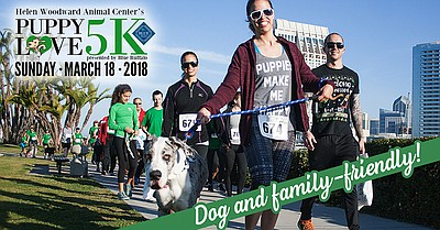 Promotional graphic for the Puppy Love 5K. Courtesy of He...