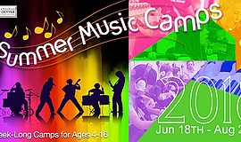Promo graphic for Little Rockers Camp (Ages 4-6)