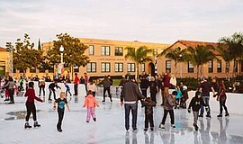 Photo from a previous ice rink season. Courtesy of Rady C...