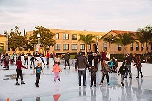 Photo from a previous ice rink season. Courtesy of Rady Children's Hospital S...