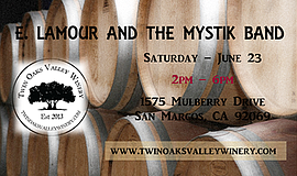 Promo graphic for Summer Wine Stomp At Twin Oaks Valley...