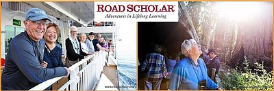 Promotional banner for Road Scholar. Courtesy of Road Sch...