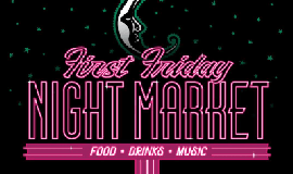 Promotional poster for the First Friday Night Market. Cou...