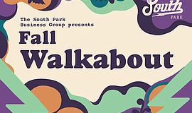 Promotional graphic for the South Park Fall Walkabout. Co...