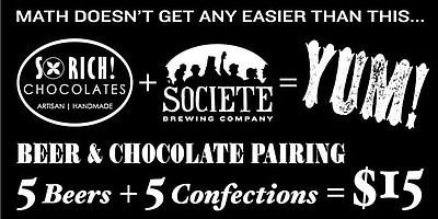 Promotional flyer for chocolate and beer pairing. Courtes...