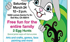 Promo graphic for Egg Hunt Spring Eggstravaganza At San...