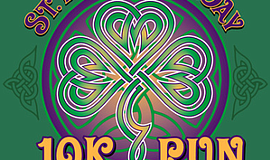 Promo graphic for 2018 St. Patrick's Day 10K Run And 2-...