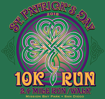 Promotional graphic for the 2018 St. Patrick's Day 10K Ru...