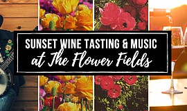 Promotional graphic for the Sunset Wine Tasting & Music P...