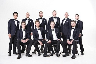 A promotional photo of the Ten Tenors, courtesy of the ar...