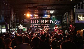 Promotional photo of The Fooks performing live at The Fie...