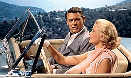 "Grace Kelly and Cary Grant in ""To Catch a Thief"" (1955)."