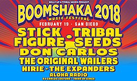 Promo graphic for Boomshaka 2018 Music Festival