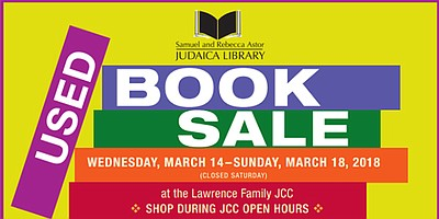 Promotional graphic for the Annual Book Sale - A fundrais...