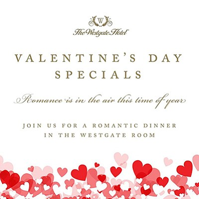 Valentine S Day Romantic Dinner At The Westgate Hotel February 14