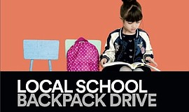Promo graphic for Backpack Donation Drive