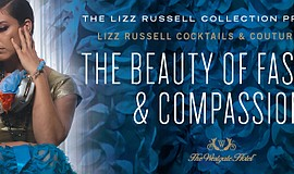 Promo graphic for Lizz Russell Cocktails & Couture 2018...