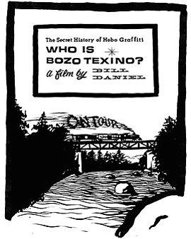 "Promotional graphic for ""Who Is Bozo Texino?"" by filmmake..."