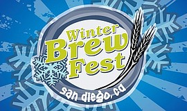 Promotional graphic for San Diego Winter Brew Fest