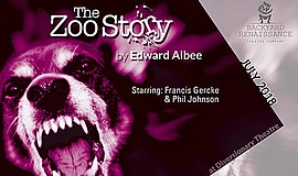 Promo graphic for 'The Zoo Story' At Backyard Renaissance