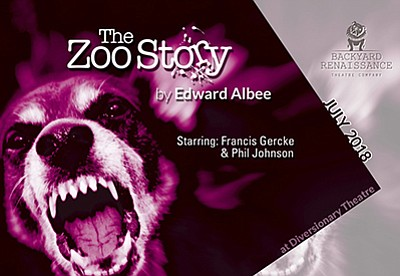 """A promotional poster for """"The Zoo Story,"""" courtesy of Bac..."""