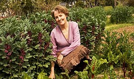 Promo graphic for Alice Waters Book Signing At Chino Farm