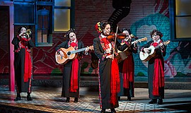 "A photo from ""American Mariachi,"" running at The Old Glob..."