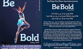 Promo graphic for San Diego Civic Dance Arts Collage 2018