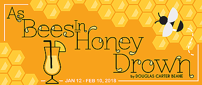 "A promotional poster for ""As Bees in Honey Drown,"" courte..."