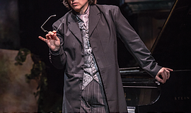 """A promotional poster for """"Hershey Felder, Beethoven,"""" cou..."""