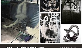 A promotional poster for Blackout, courtesy of Ashton Gal...