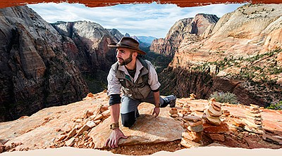 A promotional photo of Coyote Peterson, courtesy of San D...