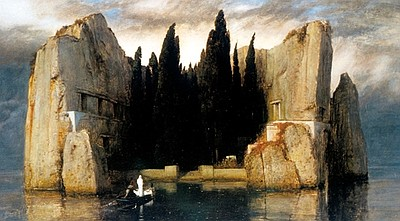 A photo of a painting by Arnold Böcklin, courtesy of San ...