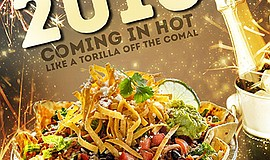 Promotional flyer of food. Courtesy of Cafe Rio.