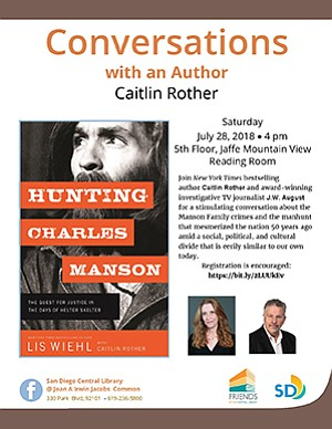 Promotional flyer for Hunting For Charles Manson with Cai...