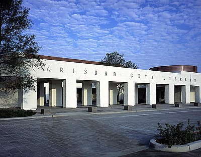 A photo of the Carlsbad City Library.
