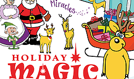 "Promotional graphic for the ""Holiday Magic"" release gala ..."