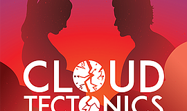 Promo graphic for 'Cloud Tectonics' At New Village Arts