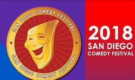 Promo graphic for San Diego Comedy Festival 2018