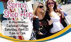 Promo graphic for Spring Shop Hop