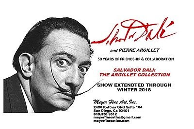 "Promotional graphic for ""Salvador Dalí: The Argillet Coll..."