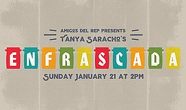 Promo graphic for Amigos Del Rep Presents 'Enfrascada' ...