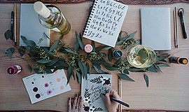 Promotional photo of the modern calligraphy and design wo...