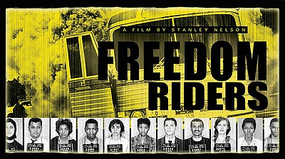"Promotional graphic for the film, ""Freedom Riders."" Writt..."